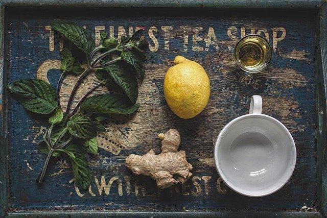home remedies for cold - ginger lemon tea