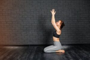 how to do meditation at home - namaste pose