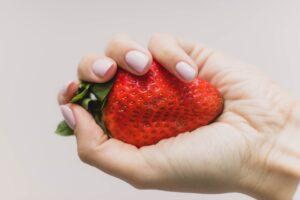 Diy eye makeup remover - Strawberry