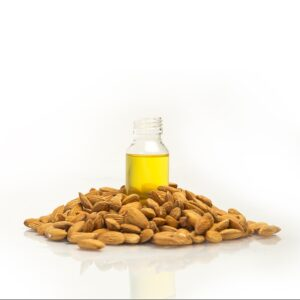 Almond oil for eyebrows and eyelashes